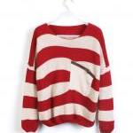 Red Stripe Bat Long Sleeve..