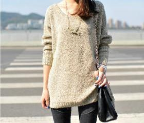 Loose All-match Bat Sleeve Pullover Sweater