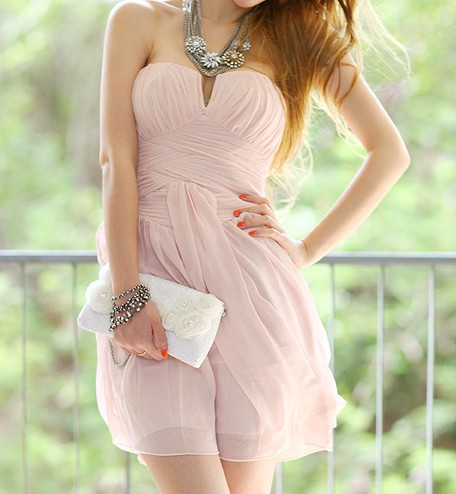 Pink Strapless Cocktail Dress on Luulla